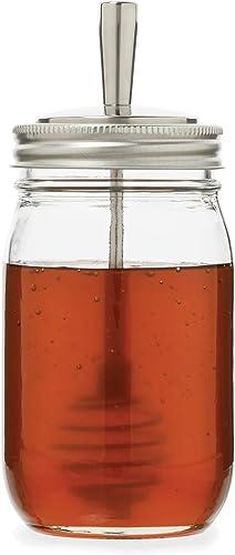 Jarware 82653 Stainless Steel Honey Dipper Lid