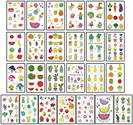 JOYKK 15 Piezas pequeñas Pegatinas de Tatuaje para niños Frescos ...