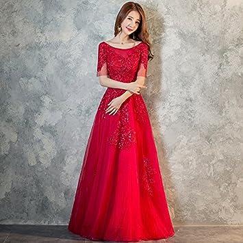 JKJHAH Vestidos De Novia Vestidos Rojos Vestidos De Fiesta Vestidos De Fiesta para Mujeres, Rojo