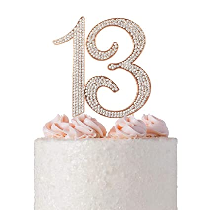 13 ROSE GOLD Cake Topper