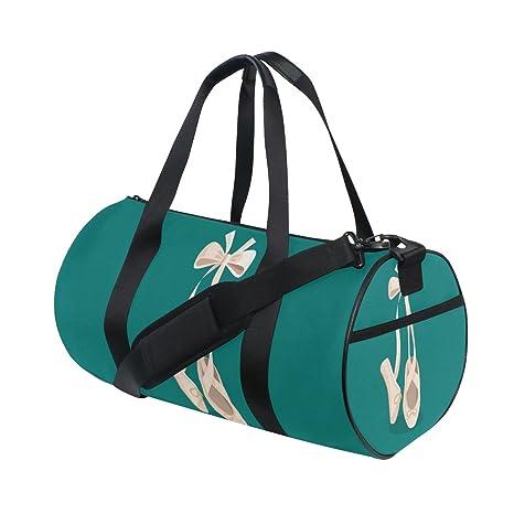 Naanle Female Ballet Shoes On Green Ballerina Dancer Design Gym Bag Sports  Travel Duffle Bags for Men Women Boys Girls Kids  Amazon.ca  Luggage   Bags c2e88cb1e5d24