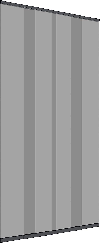 Windhager Cortina de mosquitera con Lamas telescópicas 120 cm, Antracita, 04302