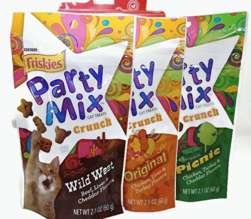 Friskies Cat Treat Party Mix Love Pack