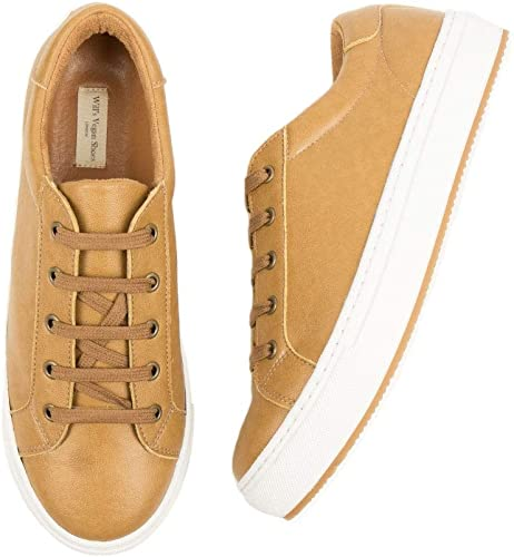 Vegan Shoes Womens Smart Sneakers Tan