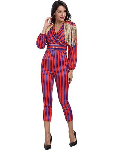 Adyce Abito Donna-Sexy-Bandage-Dress tuta rossa maschera, per la festa di halloween indossa le manic...