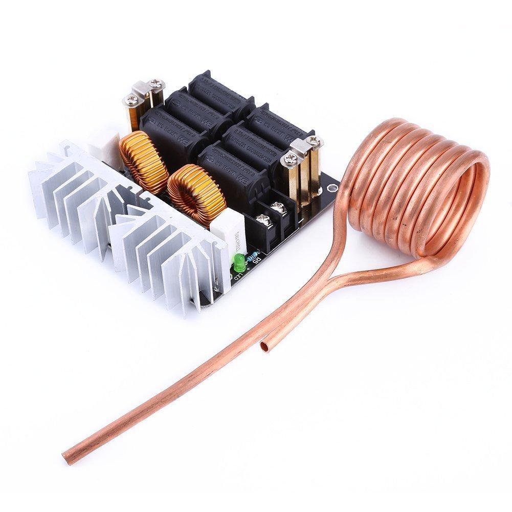 1000 W ZVS baja tensión Inducción Calefacción Junta Módulo con bobina de tesla, 12 V-48 V, 20 A: Amazon.es: Bricolaje y herramientas