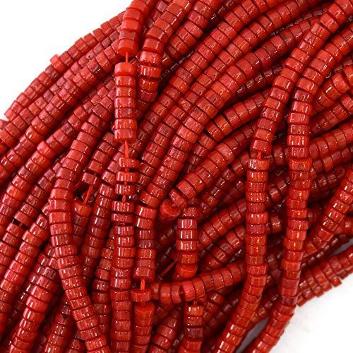 - Red Coral Heishi Beads Gemstone 16