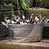: TableCraft Galvanized Beverage Tub, 5.5 Gallon