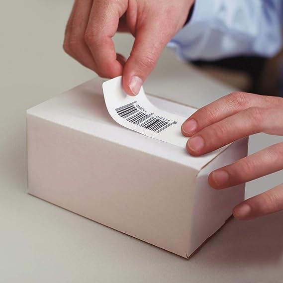 Dymo S0722480 - Cuelgue de etiquetas de registro con 110 piezas por rollo 99019, 59 mm x 190 mm, color blanco: Amazon.es: Oficina y papelería
