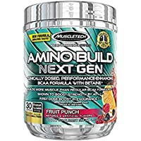 MuscleTech Amino Build Formula Fruit Punch 0.58 lb tub