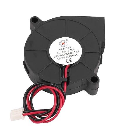 sourcing map Sourcingmap® Turbo Ventilador Refrigerador DC 12V 0.15A 2 Patillas rodamiento de Manguito