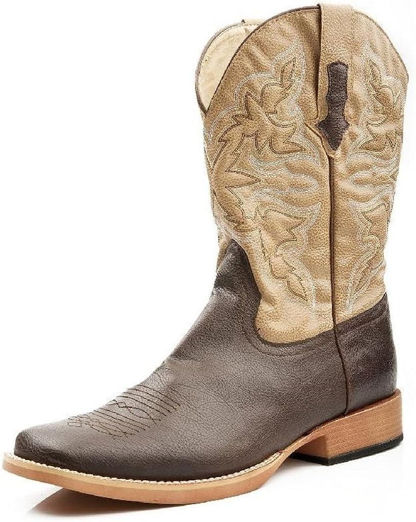 ROPER Men's Square Toe Cowboy Boot, Brown, 10 D - Medium