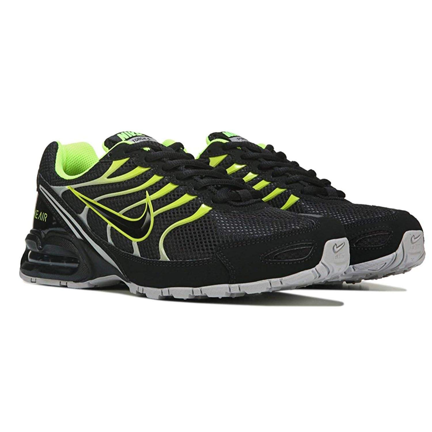 sale retailer 40c28 cb053 Amazon.com   Nike Men s Air Max Torch 4 Running Shoe Black Volt Atmosphere  Grey Size 12 M US   Road Running