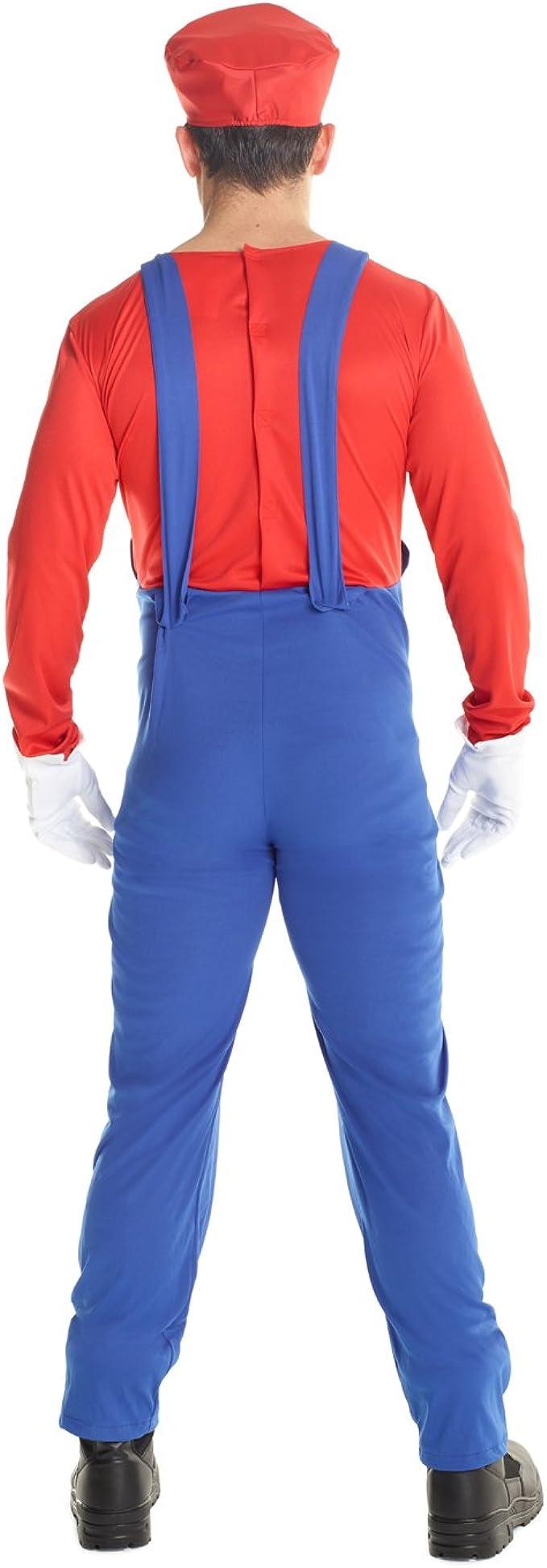 Disfraz de Super Mario Adulto, Traje de Juego de Fontanero de los ...