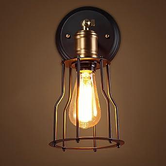 Cocina negro Retro Industrial forja pared luces Vintage creativo ...