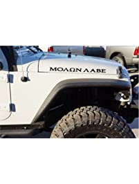 Amazoncom Decals Accessories Automotive Graphic Kits Trim - Custom windo decals for jeepsjeep hood decals and stickers custom and replica jeep decals now