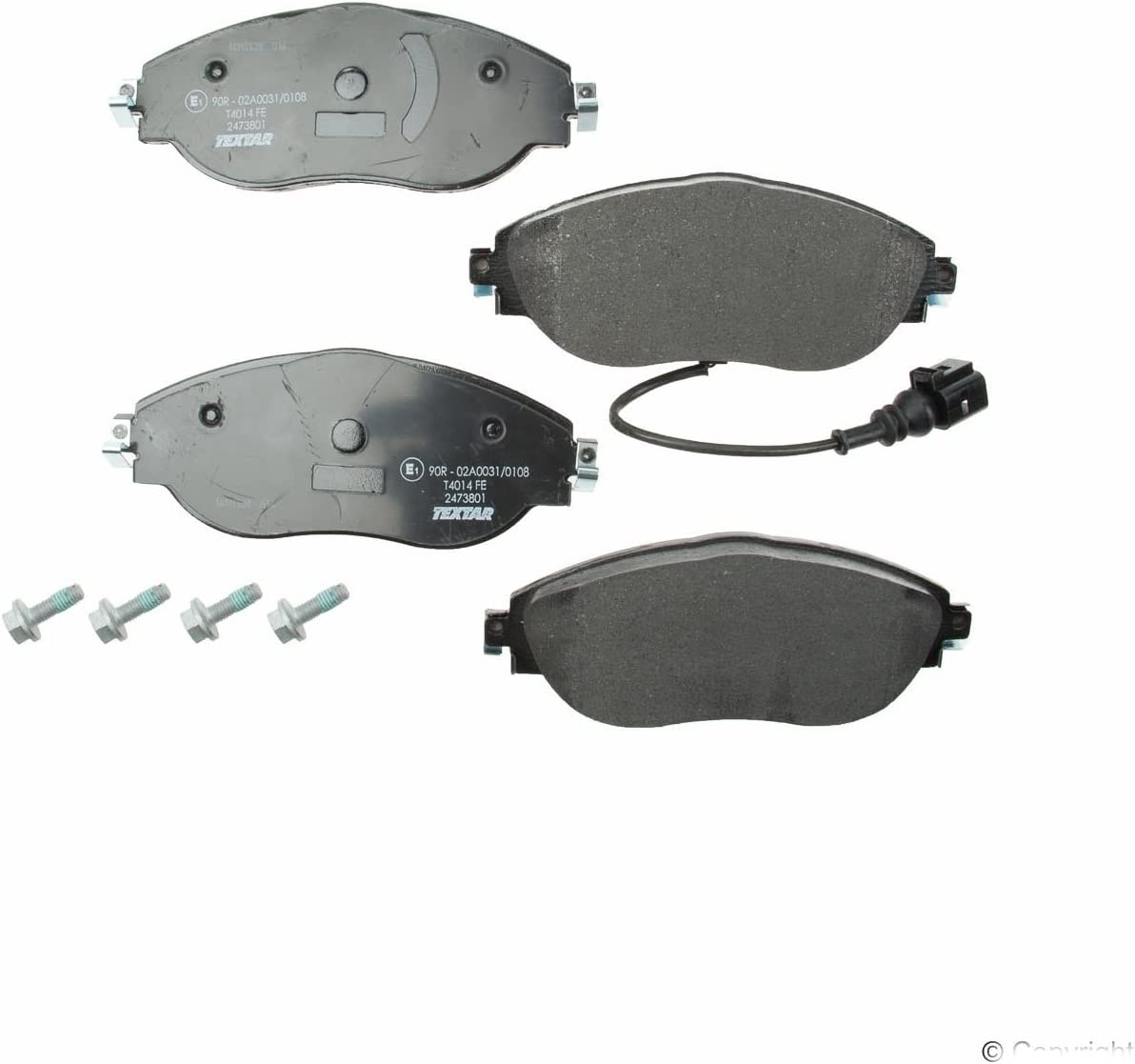 Genuine OE Textar Coated Front Vented Brake Discs Pair Set 92167403
