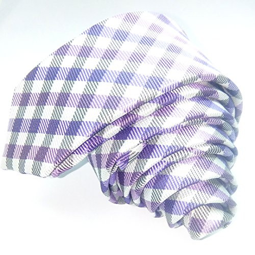 skinny tie handmade tie collar tie plaid necktie (11)