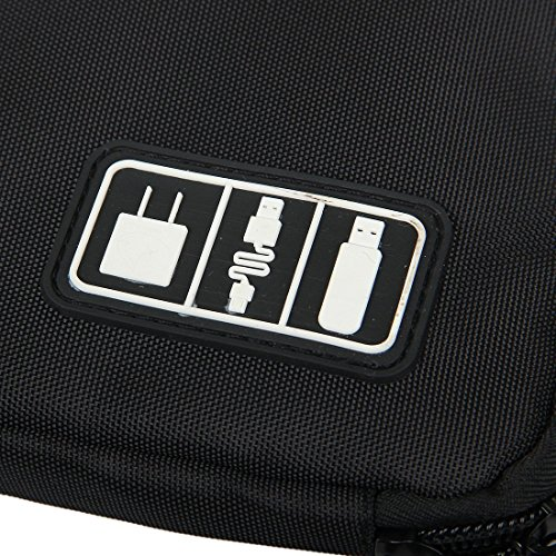 Black Cable Organizer Electronics Accessories Travel Bag USB Drive Bag Healthcare & Grooming Kit by BAIGIO (Image #4)