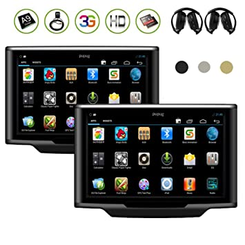 10.1 pulgadas capacitiva pantalla táctil par de Android 4.1 Reposacabezas de Coche Video jugadores wifi/