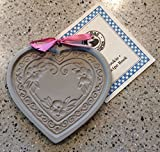 Brown Bag BLOSSOM HEART Cookie Mold -RARE HARD TO FIND Brown Bag Clay Art Cookie Mold 2002 NATKIEL BLOSSOM HEART