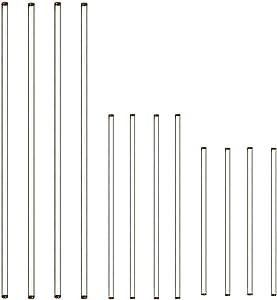 ZIIVARD 12 Pack Glass Stirring Rod Stir Stick with Both Ends Round Heat Resistant Laboratory Stirring Rod Coffee Stirring Tool,15cm/20cm/30cm