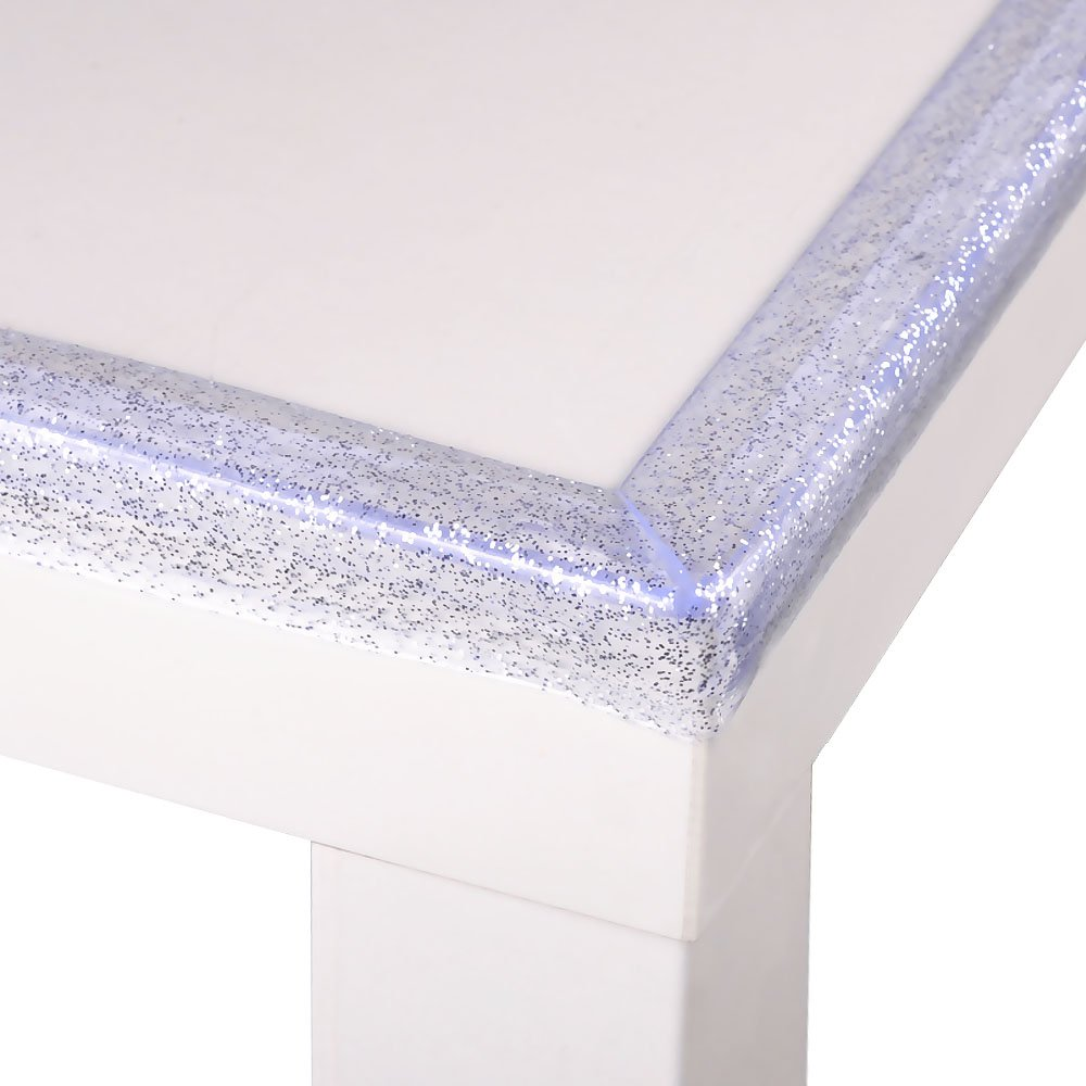 6.56ft Baby Safety Bumper Strip with Shimmering Powder Cunina Table Corner Protector Guard Edge Corner Cushion Strip Pack of 1, Transparent