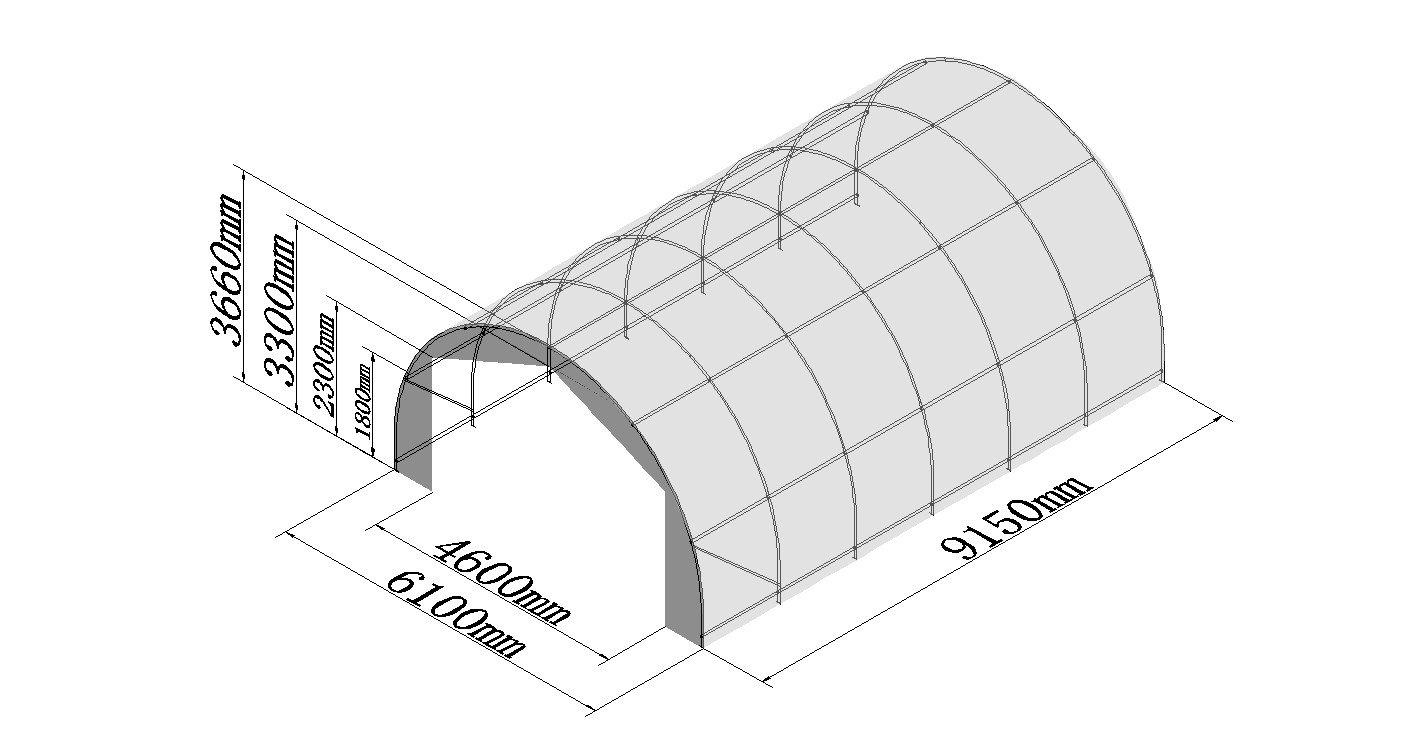 Hay Storage Building Shelter Tent 20' x 30' Heavy Duty Fabric Galvanized Steel