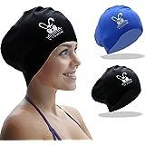 YTSWIM Long Hair Silicone Swim Caps for Women, Men, Adult, Multiple Choice