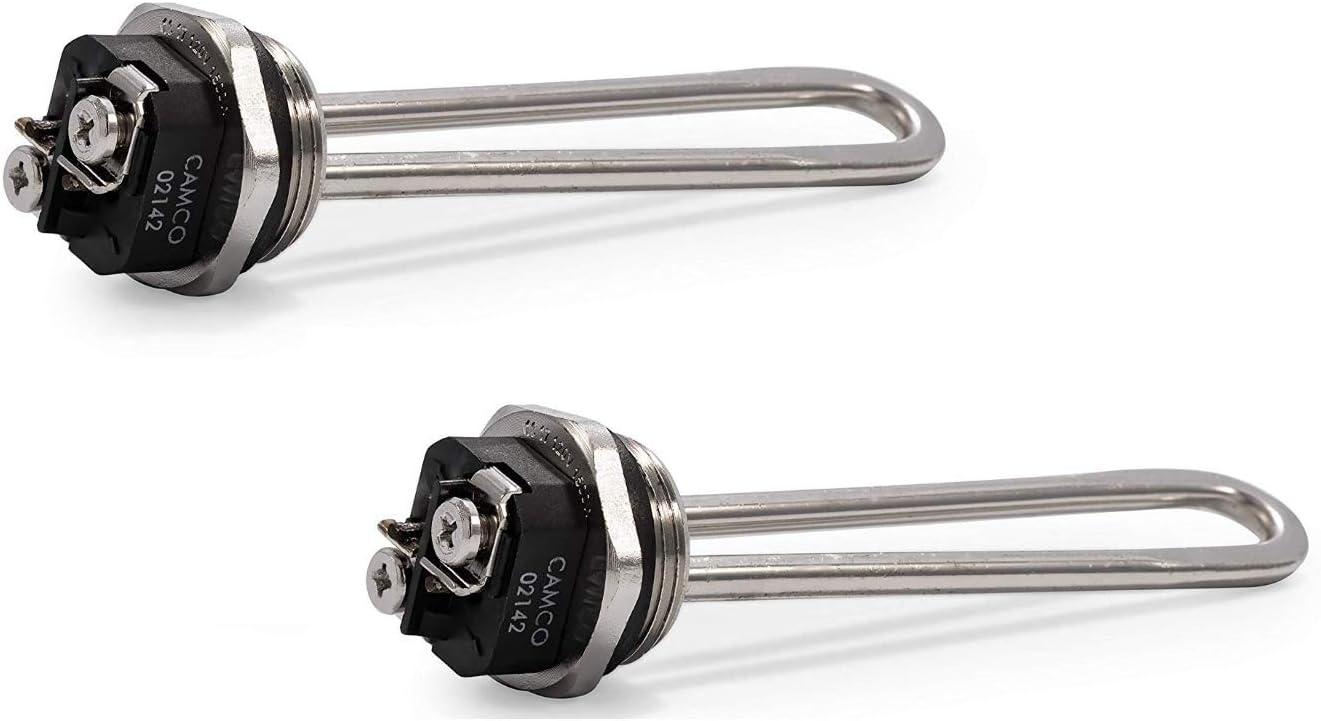Camco 02142/02143 1500W 120V Screw-In Water Heater Element - High Watt Density (2)