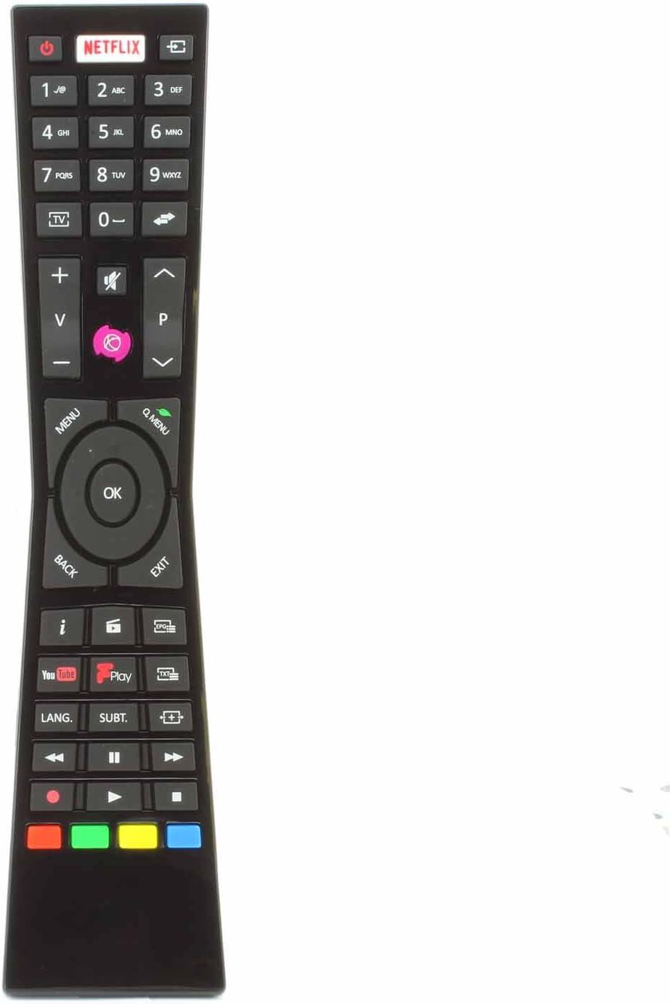 Reemplazo Mando a Distancia para CURRYS JVC rm-c3231 rmc3231 Smart 4 K LED televisores con Netflix Youtube Freeview – Compatible con Muchos Modelos: Amazon.es: Electrónica
