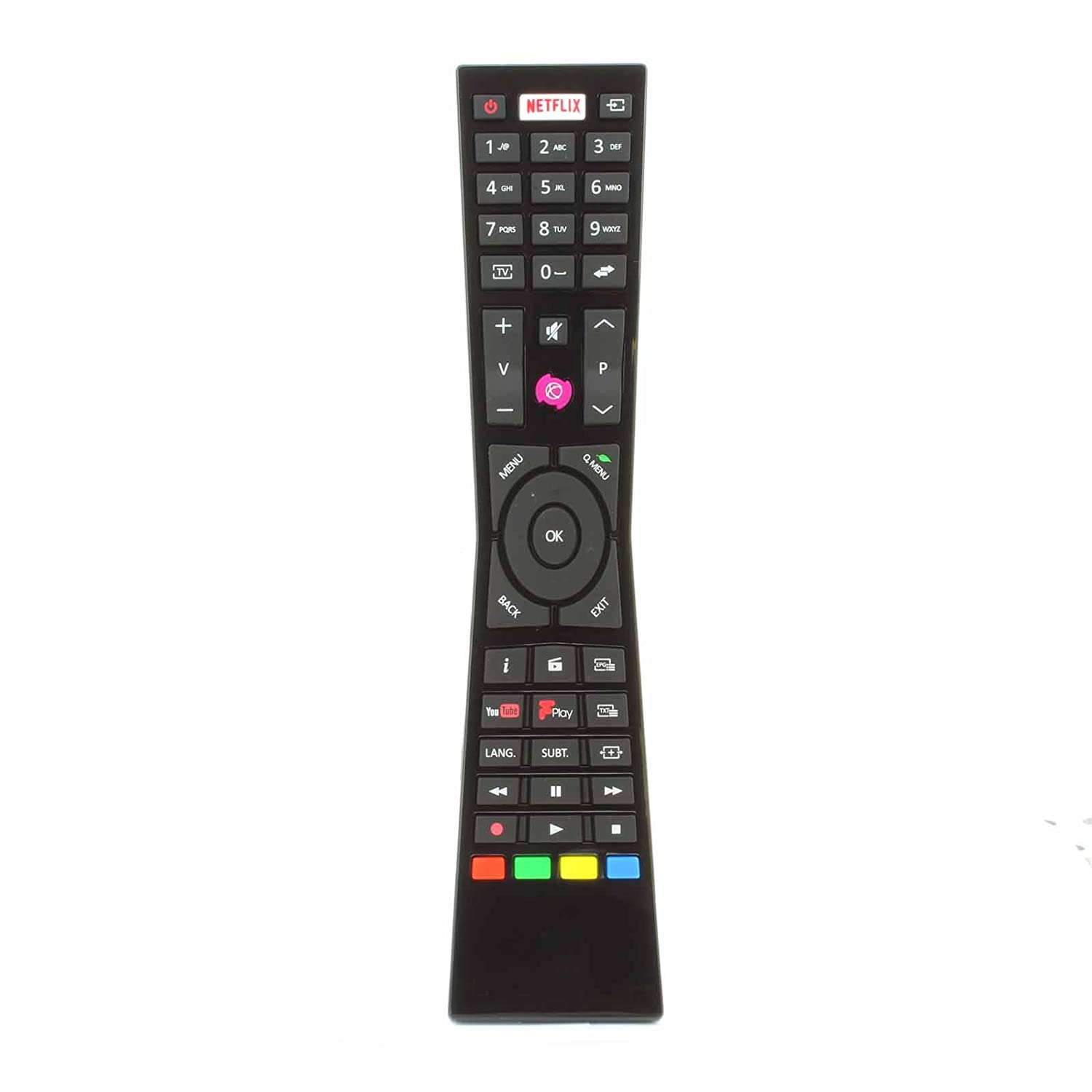 Replacement Remote Control for Currys JVC RM-C3231 RMC3231 Smart 4K LED TVs  with NETFLIX YouTube Freeview - Fits Many Models