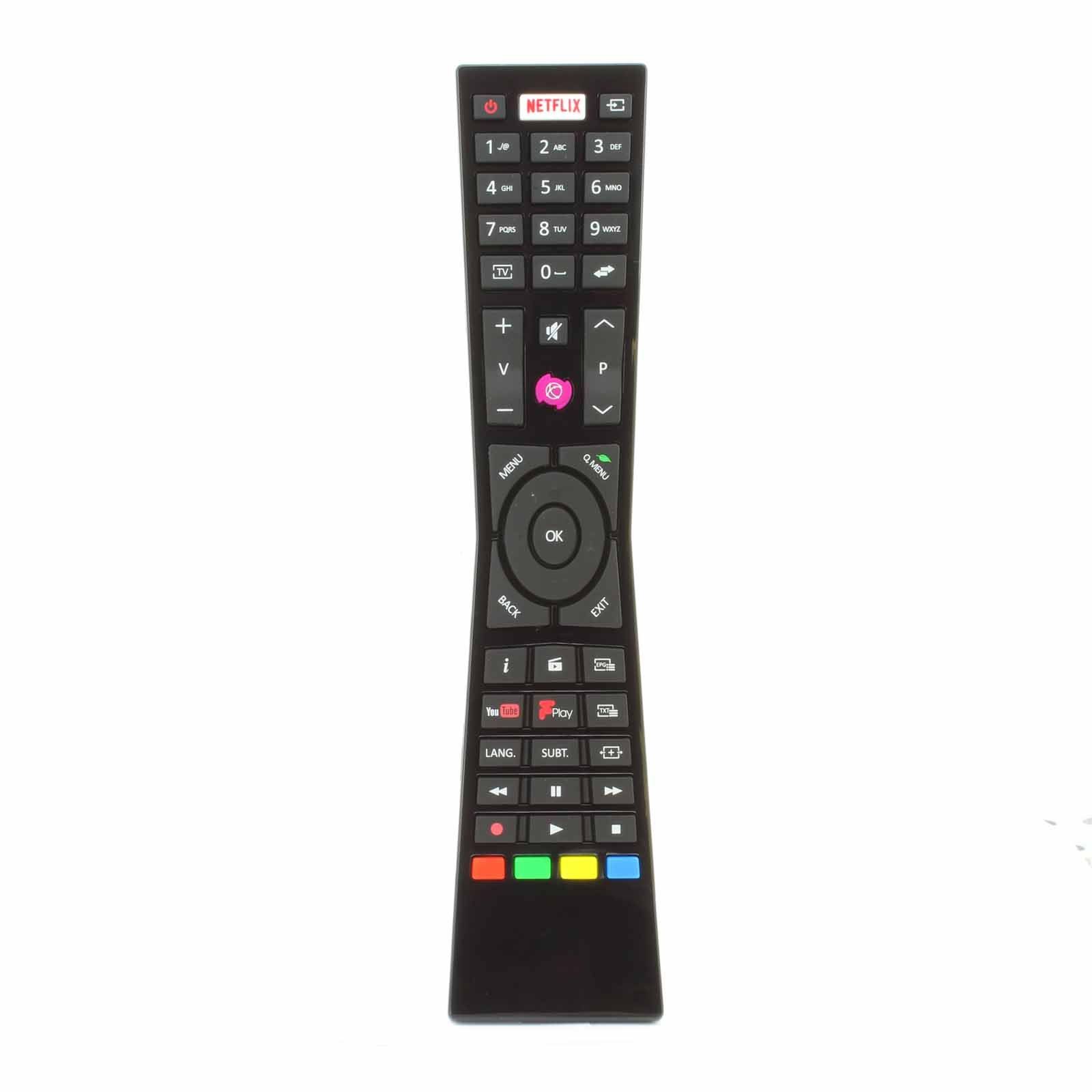 RM-C3231 Replacement Remote Control for Currys JVC RM-C3231 RMC3231 Smart 4K LED TVs with NETFLIX YouTube Freeview - Fits Many Models