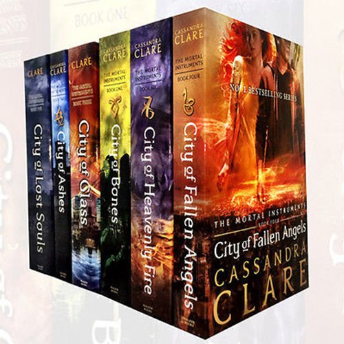 Mortal Instruments Series Collection 6 Books Set By Cassandra Clare (City of Bones, City of Ashes, City Glass, City of Lost Soul, City of Fallen Angels, City of Heavenly Fire)