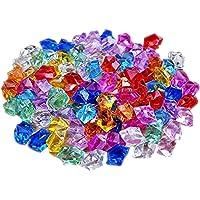 250g Gemme del Diamante Acrilico,Trasparente Matrimonio Cristallo, Artificiale Diamante Cristallo,Per la decorazione domestica dei regali di cerimonia nuziale,Colore misto