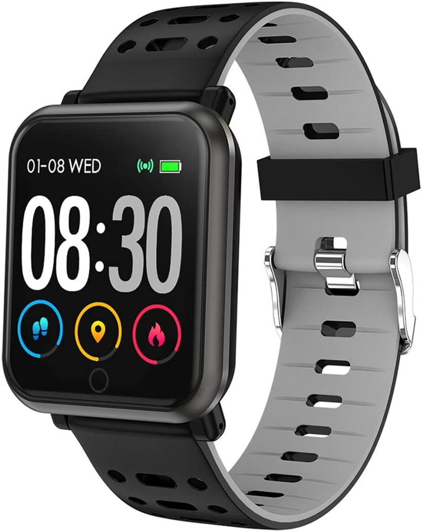 Black Friday Smart Bluetooth Watch, Touchscreen Heart Rate Monitor es Compatible con Android 5.1, IOS8.0 y Sistemas Superiores, Familia-Grey