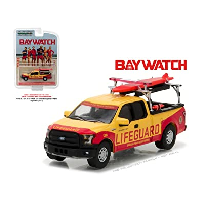 GREENLIGHT 1:64 HOLLYWOOD SERIES 16 - 2016 FORD F-150 EMERALD BAY BEACH PATROL - BAYWATCH (2020) 44760-F: Toys & Games
