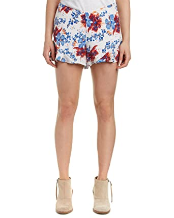 4148193952 Free People Womens Floral Print Flat Front Casual Shorts | Amazon.com