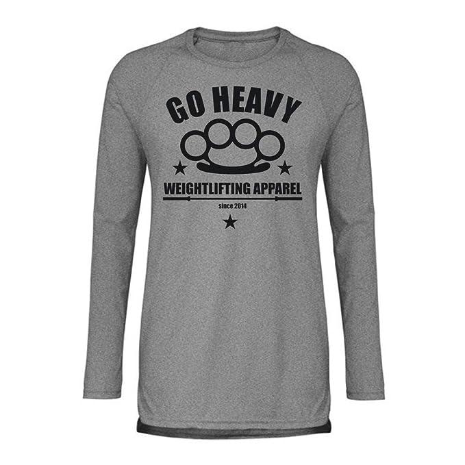 GO HEAVY Camiseta de Manga Larga para Hombre - Knock: Amazon.es: Ropa y accesorios