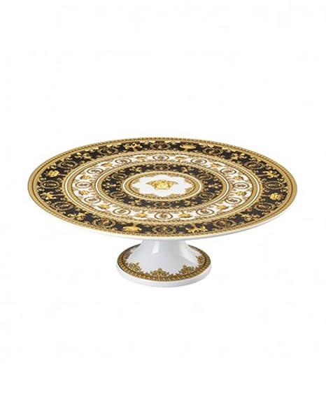 Versace Plato Tarta con pie I Love Baroque