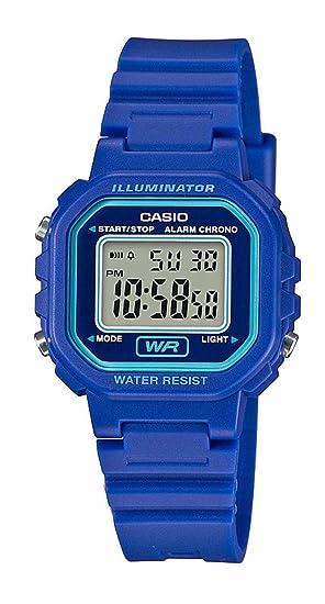 Casio Reloj Digital para Mujer de Cuarzo con Correa en Resina LA-20WH-2AEF: Amazon.es: Relojes