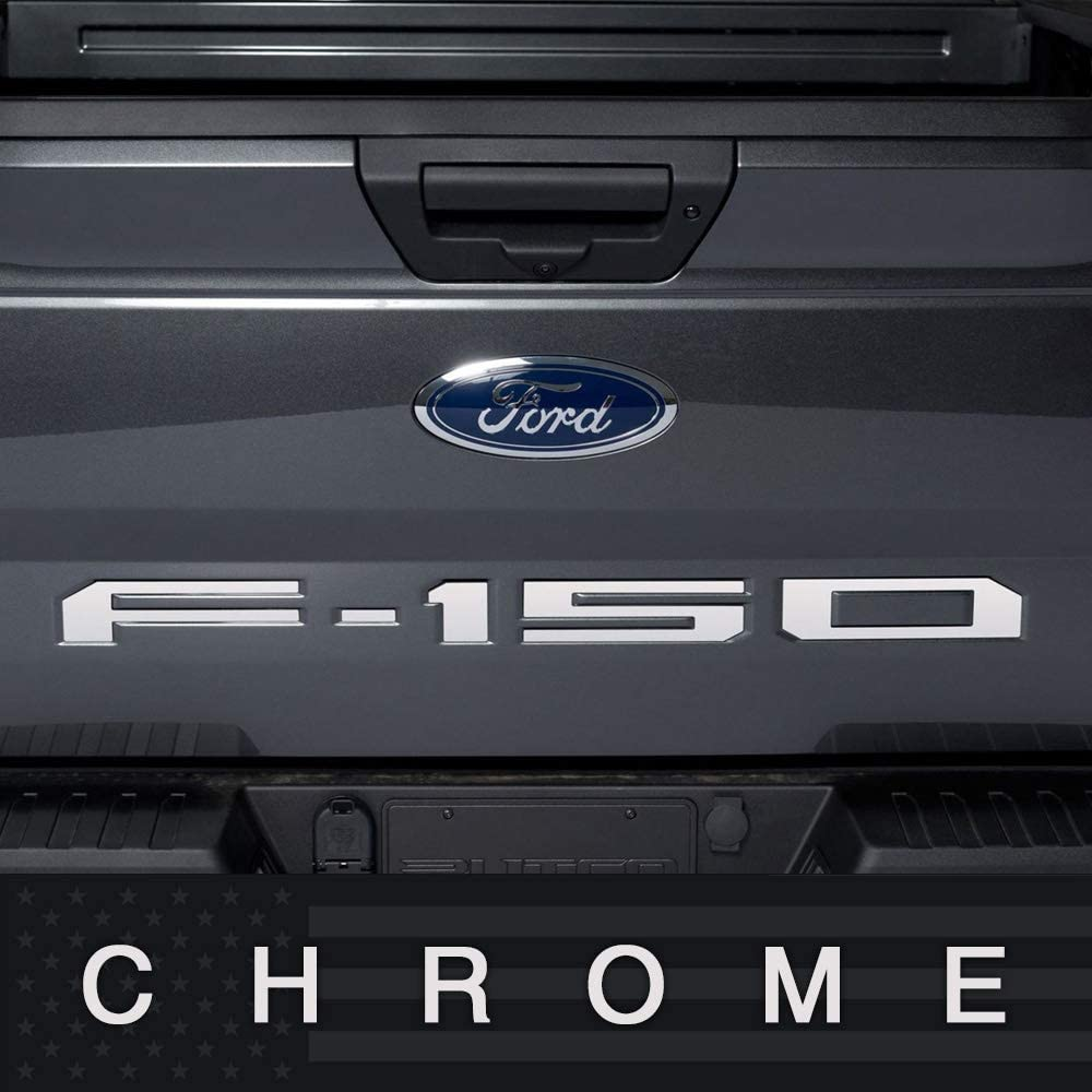 Chrome 2018 FORD F150 Rear Letters Tailgate Inserts ABS Plastic