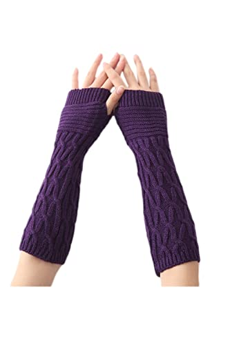 YACUN La Mujer Invierno Guantes Fingerless Knit ARM Warmer Manopla
