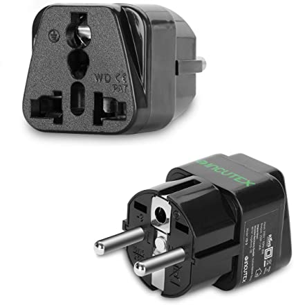 Incutex 2 X Universal Socket Adapter Travel Adaptor Elektronik