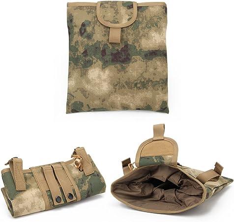 Warrior Quest 1000D Nylon Folding Tactical Dump Pouch – Foldable Molle Magazine Mag Dump Pouch …