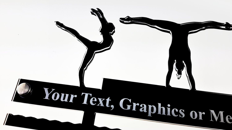 gro/ß 29/cm Gr/ö/ße Display personalisierbar Gymnastik Acryl Medaillenhalter//H/änger