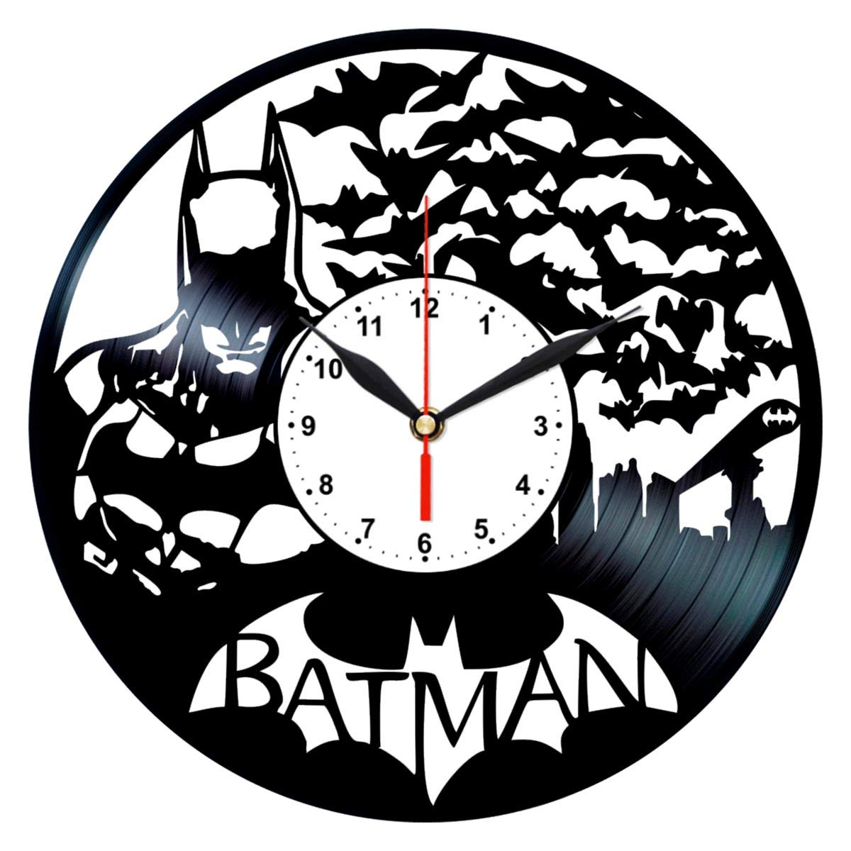 Amazon.com: Queen Clocks Batman Symbol Wall Clock - Unique ...