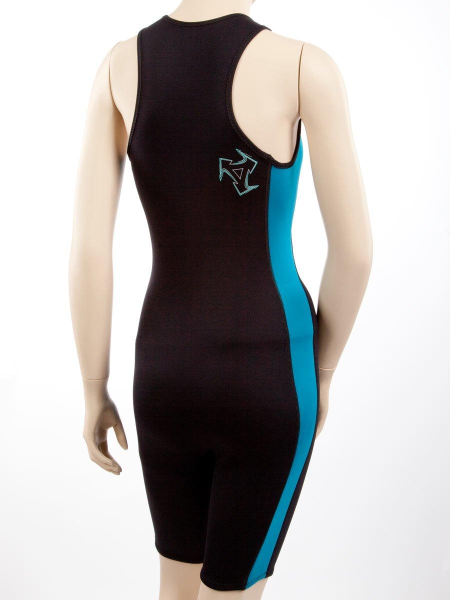 XCEL Womens Racerback Front-Zip Aqua Fitness Shorty Wetsuit