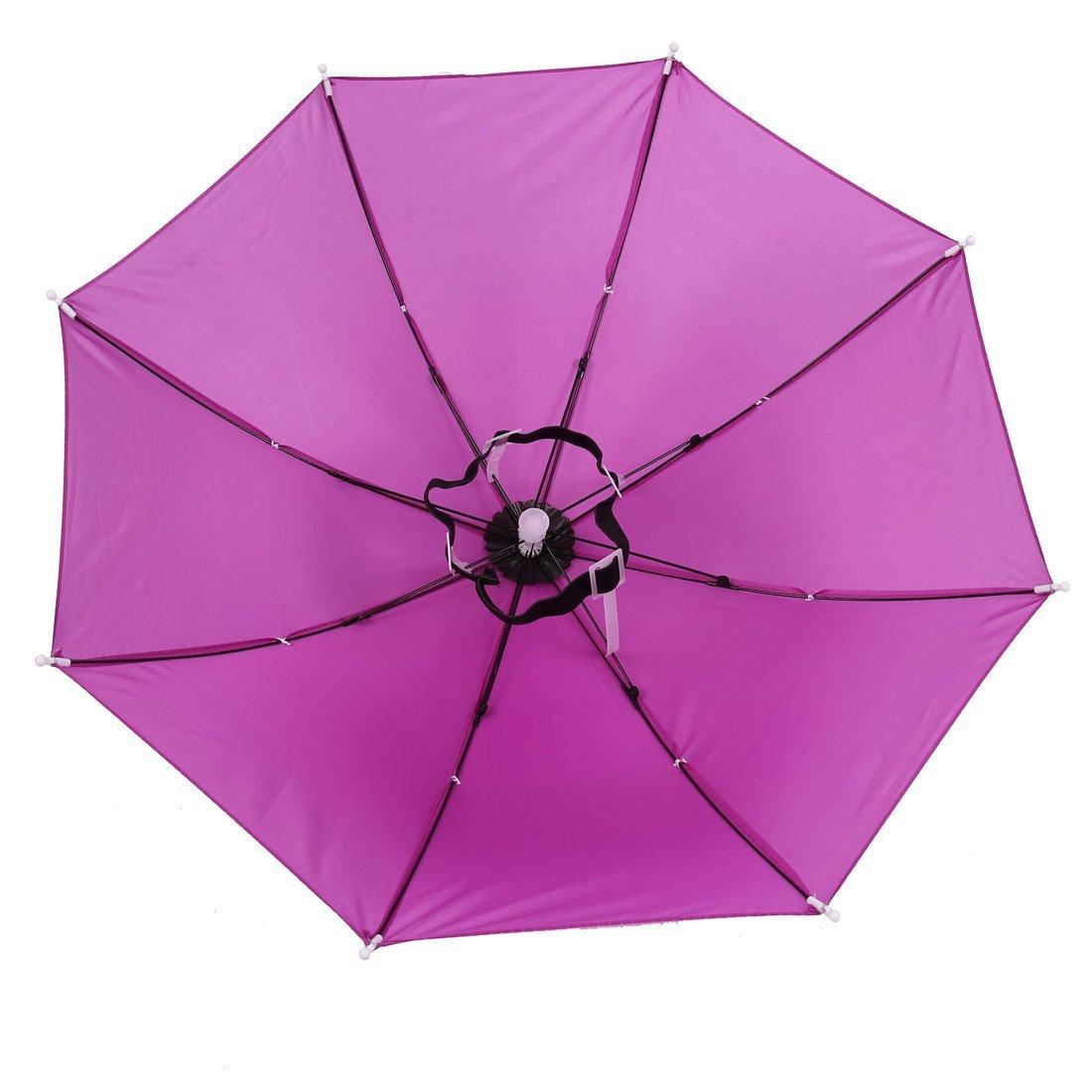 Amazon.com: 21 Diâmetro Fuchsia Pesca Praia Esportes Hands Free elástico Umbrella Hat: Home & Kitchen