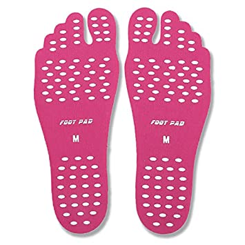 Unisex Summer Beach Sticker Shoes Stick on Soles Sticky Pads For Foot Protection